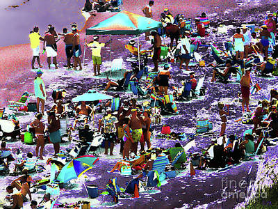 Photograph - Beach Scene Solarized by Jeff Breiman