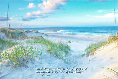 Beach Scripture Verse  Art Print by Randy Steele