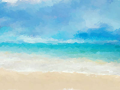 Mixed Media - Beach Sea Colors by Anthony Fishburne