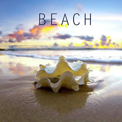 Pastel Sky Photograph - Beach. by Sean Davey