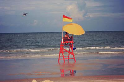 Photograph - Beach Sentinel Florida by Toni Hopper