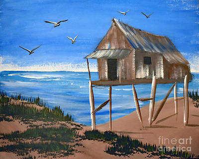 Boykin Painting - Beach Shack by Bill and Deb Hayes