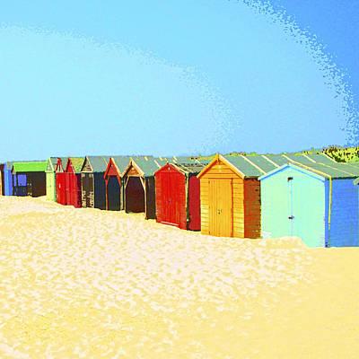 Shack Mixed Media - Beach Shacks Down Under by Dominic Piperata