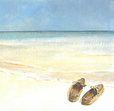 Abandoned Drawing - Beach Shoes by Lincoln Seligman