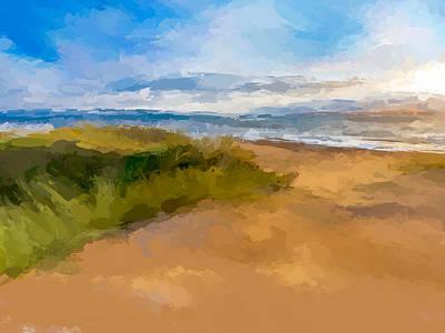 Mixed Media - Beach Shore by Anthony Fishburne
