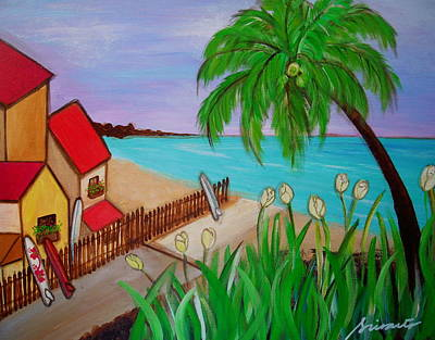 Painting - On The Beach Side by Pristine Cartera Turkus
