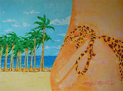 Painting - Beach Side View by Art Mantia