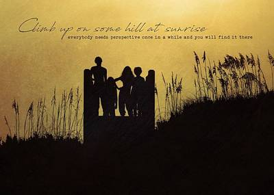 Photograph - Beach Silhouette Quote by JAMART Photography