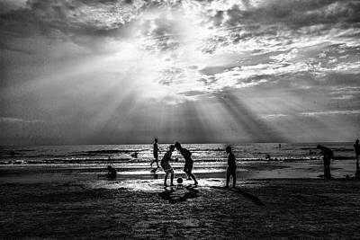 Photograph - Beach Soccer by Kevin Cable