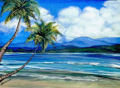 Painting - Beach Spot by Alban Dizdari