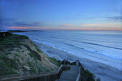 Photograph - Beach Stairs At Dusk by Scott Cunningham