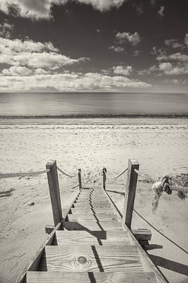 Beach Stairs Wellfleet Print by Dapixara Art