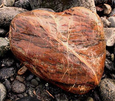 Photograph - Beach Stone Heart by Dreamweaver Gallery