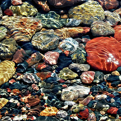 Riverstone Gallery Photograph - Beach Stones by Gregory Steele