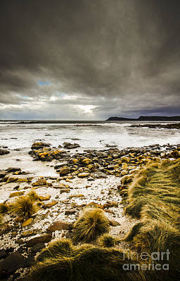 Grey Clouds Photograph - Beach Storms And Turbulent Seas by Jorgo Photography - Wall Art Gallery