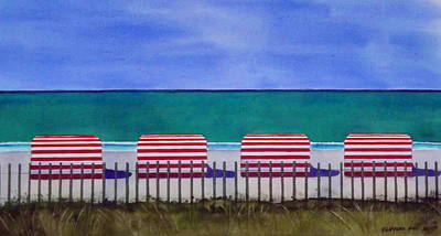 Beach Stripes Art Print by Cory Clifford