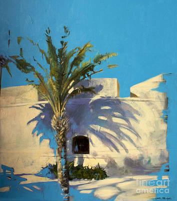Lin Painting - Beach-strolling In Antibes by Lin Petershagen