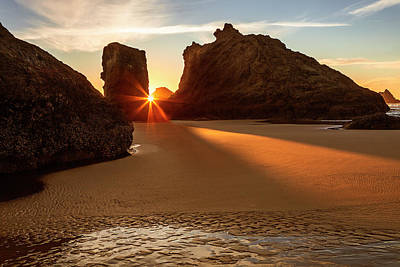 Photograph - Beach Sunburst by Andrew Soundarajan