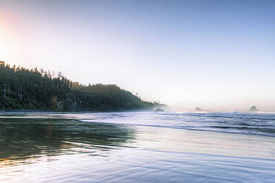 Photograph - Beach Sunrise At Ecola State Park by Kay Brewer