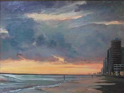 Beach Sunrise Original by Beverly Klucher