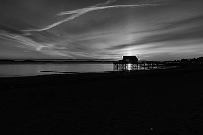 Photograph - Beach Sunrise Black And White by Brian MacLean