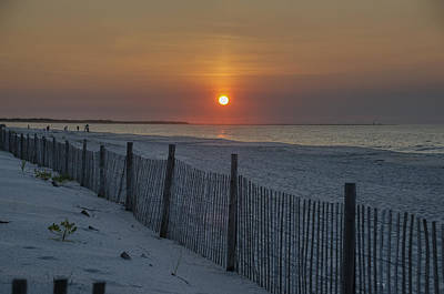 Beach Sunrise - Cape May Art Print by Bill Cannon
