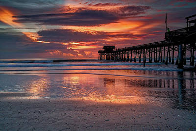Photograph - Beach Sunrise by Dave Files