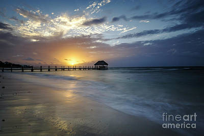 Photograph - Beach Sunrise by Dennis Hedberg