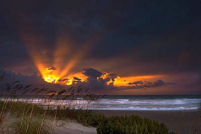 Photograph - Beach Sunrise by Ken Barrett