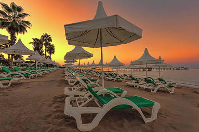 Photograph - Beach Sunrise by Nadia Sanowar