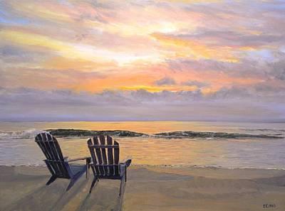 Painting - Beach Sunrise by Paul Emig