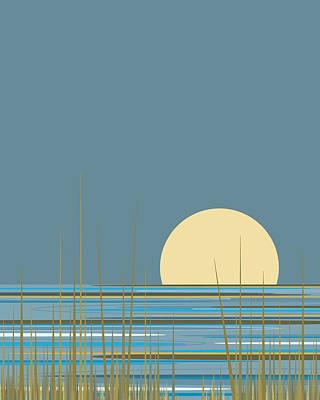 Digital Art - Beach Sunrise Vertical by Val Arie