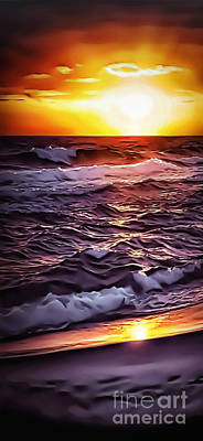Photograph - Beach Sunset 1213 by Walt Foegelle