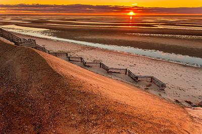 Beach Sunset 232 Thumpertown Beach Cape Cod Art Print by Dapixara