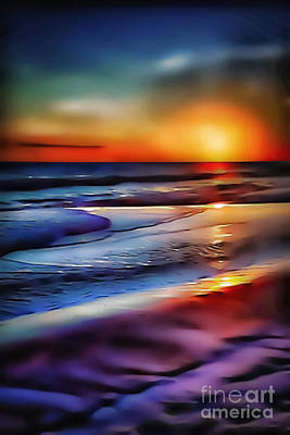 Photograph - Beach Sunset 5528 by Walt Foegelle