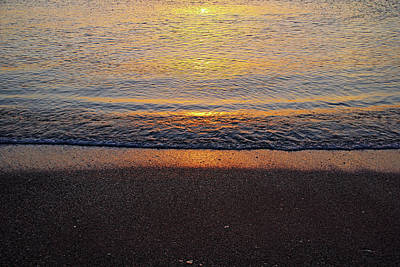 Photograph - Beach Sunset Abstract by Debbie Oppermann