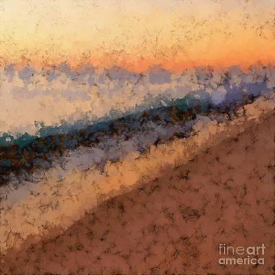 Photograph - Beach Sunset Abstract by Edward Fielding