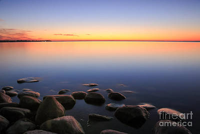 Photograph - Beach Sunset Afterglow by Charline Xia