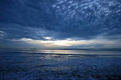 Photograph - Beach Sunset - Blue Clouds - Water View by Matt Harang