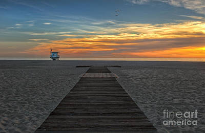 Photograph - Beach Sunset by David Zanzinger