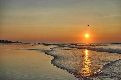 Photograph - Topsail Nc Beach Sunrise by Doug Ash
