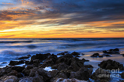 Photograph - Beach Sunset Florida by Ben Graham