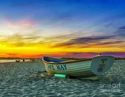 Beach Sunset In Cape May Art Print