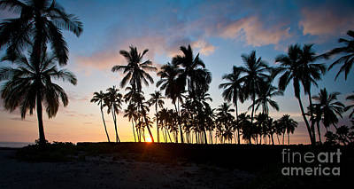 Kona Photograph - Beach Sunset by Mike Reid