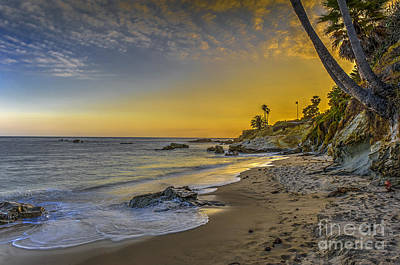 Photograph - Beach Sunset Over The Ocean 2 by David Zanzinger