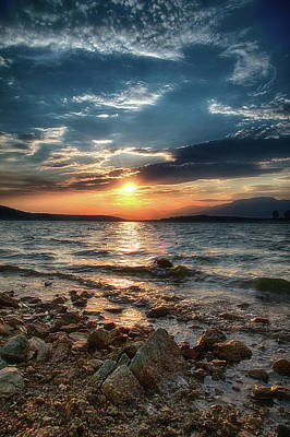 Photograph - Beach Sunset by Plamen Petkov