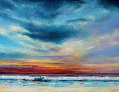 Beach Sunset Art Print by Prashant Shah