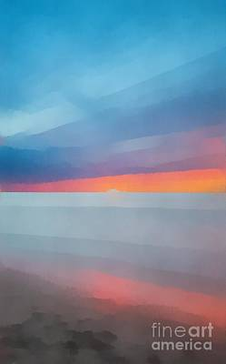 Painting - Beach Sunset Seven by Edward Fielding