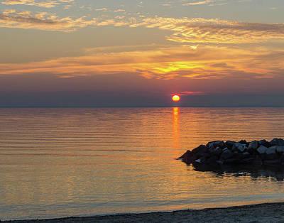 Photograph - Beach Sunset by SG Atkinson
