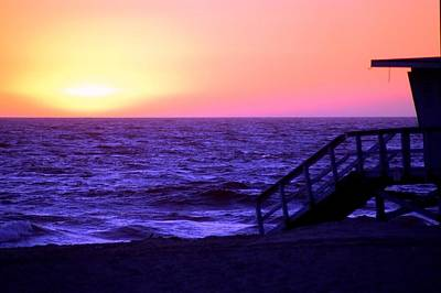Photograph - Beach Sunset View Lifeguard Tower by Matt Harang